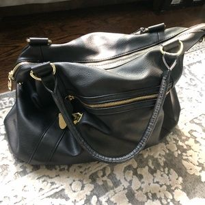 Steve Madden Black and Gold tote. Great condition